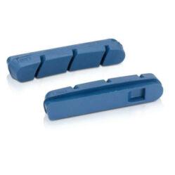 XLC BS-X16 országúti csere fékbetét gumi országútihoz, karbon felnihez, Campagnolo-hoz, 50 mm, két pár,  kék
