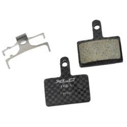 XLC BP-C07 tárcsafék fékbetét Shimano M395-495-525 és Tektro hidr. fékekhez, karbon alap, organikus pofa, 1 pár