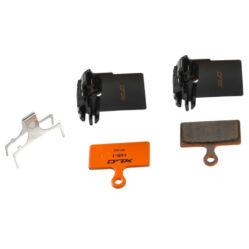 XLC BP-H25 cserélhető hűtőbordás tárcsafék fékbetét Shimano XTR 2011 fékhez, acél alap, organikus pofa, 1 pár