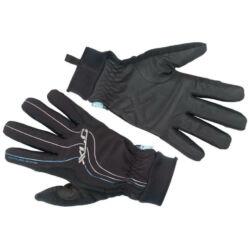 XLC CG-L08 hosszú ujjú, téli, víz- és szélálló kerékpáros kesztyű, fekete, XL-es