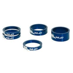 """XLC AS-A02 kormányszár alátét (stucni hézagoló) szett 28,6 x 5-5-5-10-15 mm (1 1/8""""), alumínium, kék"""