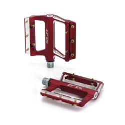 XLC PD-M09 alumínium platform pedál, ipari csapágyas, cserélhető szegecsekkel, piros