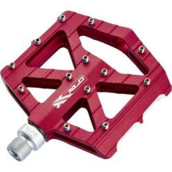 XLC PD-M12 alumínium platform pedál, ipari csapágyas, cserélhető szegecsekkel, piros