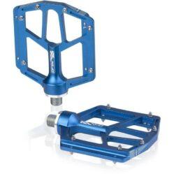 XLC PD-M14 alumínium platform pedál, ipari csapágyas, cserélhető szegecsekkel, kék