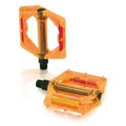 XLC PD-M16 műanyag platform pedál, átlátszó narancs