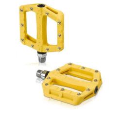 XLC PD-M19 ipari csapágyas műanyag platform pedál, cserélhető szegecsekkel, sárga