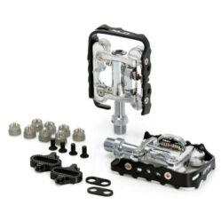 XLC PD-S02 kombinált (SPD patent és városi keretes) pedál, ipari siklócsapágyas, fekete-ezüst