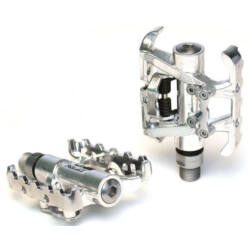 XLC PD-S01 kombinált (SPD patent és városi keretes) pedál, fekete-ezüst