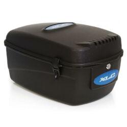 XLC BA-B02 zárható, fix rögzítésű műanyag doboz csomagtartóra, 12 liter, fekete