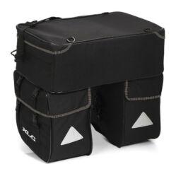 XLC BA-S58 három részes csomagtartó táska esővédő huzattal, 28L, fekete