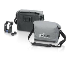 XLC BA-W18 gyorsrögzítős vízálló kormánytáska, 7L, szürke-fekete