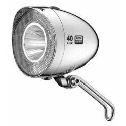 XLC CL-D04 dinamós első LED lámpa 40 lux, alkonykapcsolós, króm
