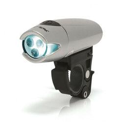 XLC CL-F03 Triton első lámpa, 3 LED, szürke