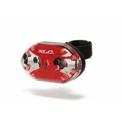 XLC CL-F01 Triton első lámpa, 5 LED, szürke