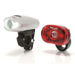 XLC CL-S04 Triton - Thebe 0,5W elemes első és hátsó POWER LED lámpa szett, elemekkel