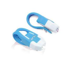 XLC CL-S10 Mini elemes első és hátsó LED lámpa villogó szett, kék-fehér