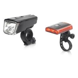 XLC CL-S16 Titana 1W-0,2W elemes első és hátsó POWER LED lámpa szett, USB-ről tölthető