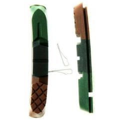 Zoggie 3 zónás csere fékbetét gumi V-fékhez, fekete-zöld-barna