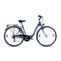 Gepida Berig 100 acél 28-as női városi kerékpár, 6s, 45 cm, szürke