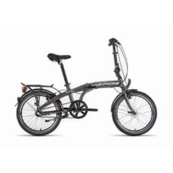 Gepida Bleda 200 összecsukható alu 20-as városi kerékpár, 3s (agyváltós), 28 cm, szürke