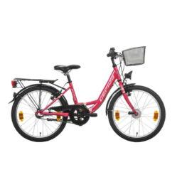 Gepida Bolia 200 20-as junior kerékpár, 3s (agyváltós), acél, 30 cm, sötét rózsaszín