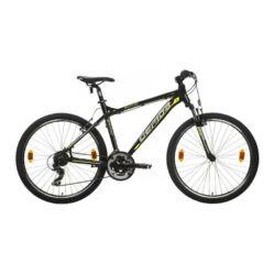 Gepida Mundo alu 26-es MTB kerékpár, 21s, 21 col, fekete-sárga