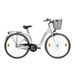 Gepida Reptila 100 ND acél 28-as női városi kerékpár, 3s (agyváltós), 45 cm, fehér