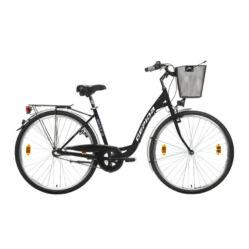 Gepida Reptila 100 ND acél 28-as női városi kerékpár, 3s (agyváltós), 45 cm, fekete