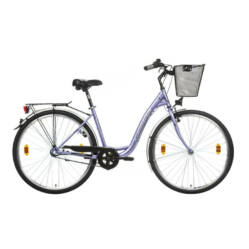 Gepida Reptila 100 acél 28-as női városi kerékpár, 3s (agyváltós), 45 cm, lila