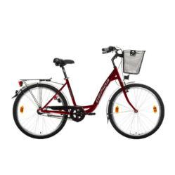 Gepida Reptila 50 acél 26-os női városi kerékpár, 3s (agyváltós), 44 cm, bordó