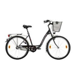 Gepida Reptila 50 acél 26-os női városi kerékpár, 3s (agyváltós), 44 cm, szürke