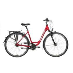 Gepida Reptila 500 alu 28-as női városi kerékpár, 8s (agyváltós), 45 cm, piros