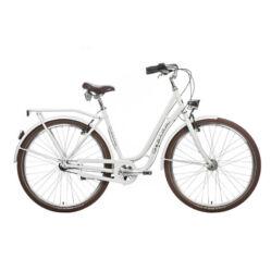 Gepida Reptila Retro alu 28-as női városi kerékpár, 3s (agyváltós), 52 cm, fehér