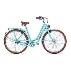 Gepida Reptila Retro alu 28-as női városi kerékpár, 3s (agyváltós), 52 cm, türkiz