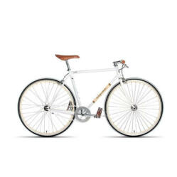 Gepida S3 acél single speed kerékpár, 54 cm, fehér