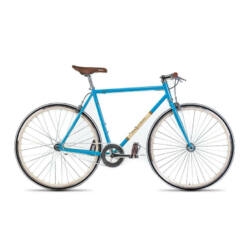 Gepida S3 acél single speed kerékpár, 58 cm, 1s, kék