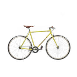 Gepida S3 acél single speed kerékpár, 54 cm, 1s, sárga