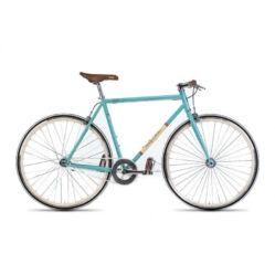 Gepida S3 acél single speed kerékpár, 54 cm, 1s, türkiz