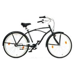 Hauser Cruiser férfi 26-os városi kerékpár, acél, 3s (agyváltós), 18-as, fekete