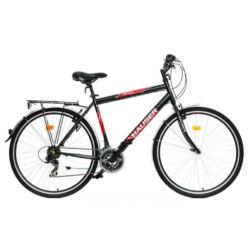 Hauser Grizzly acél 28-as férfi trekking kerékpár, 21s, 21-es, fekete - ezüst