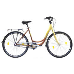 Hauser Swan 28-as női városi acél kerékpár, 3s (agyváltós), krém-barna