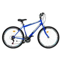 Hauser Wildcat férfi 26-os MTB kerékpár, acél, 18s, 18-as, kék