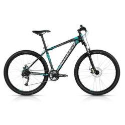 Kellys Spider 10 Azure alu 27,5-es (650B) MTB kerékpár, 24s, 17,5 col, fekete-szürke-kék