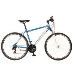 Neuzer X1 férfi 28-as cross kerékpár, 21s, alumínium, 17-es, kék-fehér-zöld