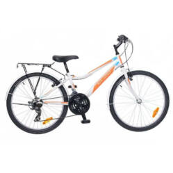 Neuzer Bobby City 24-es junior kerékpár, fehér-narancs