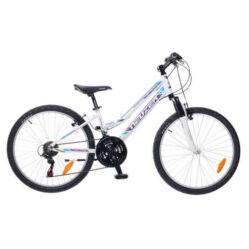 Neuzer Mistral 24-es lány hobbi MTB kerékpár, fehér-lila-kék