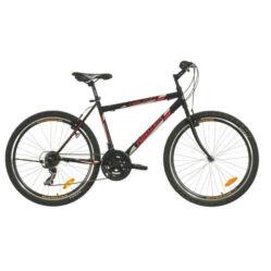 Neuzer Nelson 30 férfi hobbi MTB kerékpár, acél, 21s, 23-as, fekete-piros