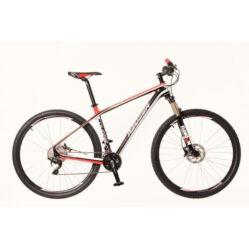 Neuzer Cougar férfi 29-es karbon MTB kerékpár, 20s, 17-es fekete-piros-fehér