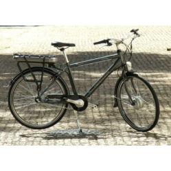 Neuzer E-City női 26-os pedelec városi kerékpár, 240W, 18-as, 3s, agyváltós, fehér-ezüst