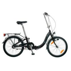 Neuzer Folding összehajtható 20-as városi agyváltós kerékpár acél, 3s, fekete